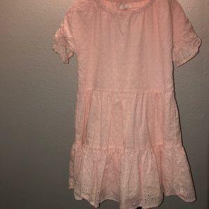 Gymboree pink layered ruffled dress size 10/12 L